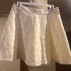 The Limited Creme Embroidered Skirt - Worn once!